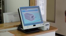 エムワンシステムのブログ-ACUA-r-mini 診察券挿入画面
